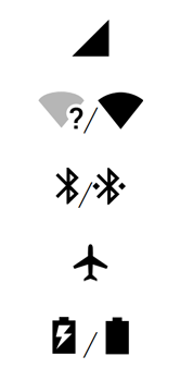 Explicação dos ícones - Motorola One - Passo 5