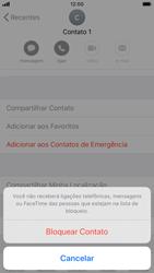 Como bloquear chamadas de um número específico - Apple iPhone 8 - Passo 6