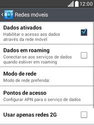Como configurar a internet do seu aparelho (APN) - LG L20 - Passo 6