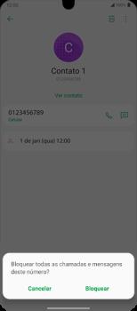 Como bloquear chamadas de um número específico - LG Velvet 5G - Passo 6
