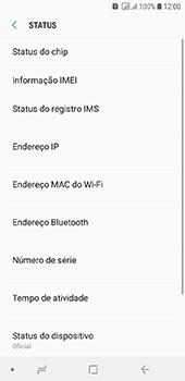 Como encontrar o número de IMEI do seu aparelho - Samsung Galaxy J6 - Passo 5