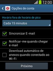 Como configurar seu celular para receber e enviar e-mails - Samsung Galaxy Pocket - Passo 20