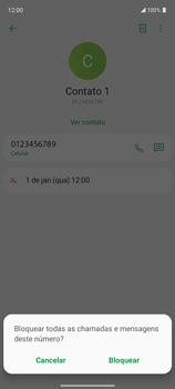 Como bloquear chamadas de um número específico - LG K62 - Passo 6