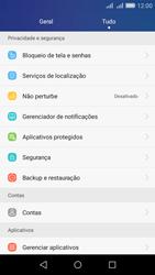 Como restaurar as configurações originais do seu aparelho - Huawei Y6 - Passo 3