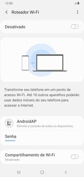 Como usar seu aparelho como um roteador de rede Wi-Fi - Samsung Galaxy A10 - Passo 6