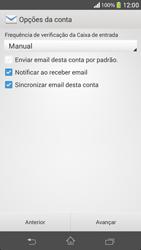 Como configurar seu celular para receber e enviar e-mails - Sony Xperia SP - Passo 17