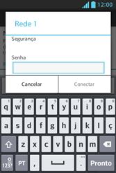 Como configurar uma rede Wi-Fi - LG Optimus L5 - Passo 6