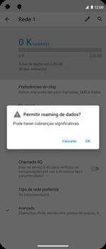 Como ativar e desativar o roaming de dados - Motorola Moto G 5G Plus - Passo 6