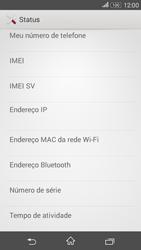 Como encontrar o número de IMEI do seu aparelho - Sony Xperia E4G - Passo 5