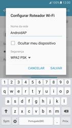 Como usar seu aparelho como um roteador de rede Wi-Fi - Samsung Galaxy S7 - Passo 8