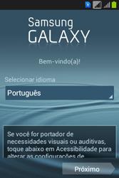 Como configurar pela primeira vez - Samsung Galaxy Young - Passo 2