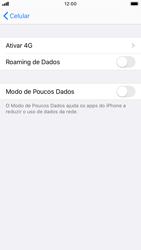 Como ativar e desativar o roaming de dados - Apple iPhone 8 - Passo 4