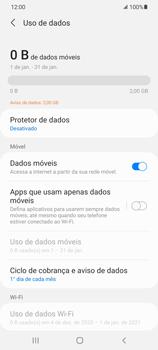 Como definir um aviso e limite de uso de dados - Samsung Galaxy S21 Ultra 5G - Passo 5