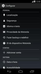 Como restaurar as configurações originais do seu aparelho - Motorola Moto E (1ª Geração) - Passo 4