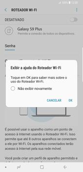 Como usar seu aparelho como um roteador de rede Wi-Fi - Samsung Galaxy S9 Plus - Passo 12
