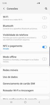 Como ativar e desativar uma rede de dados - Samsung Galaxy S10 - Passo 4