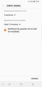 Como configurar seu celular para receber e enviar e-mails - Samsung Galaxy S9 - Passo 15