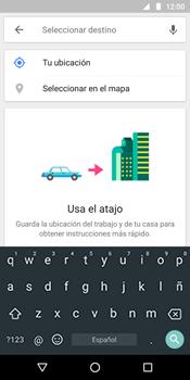 Uso de la navegación GPS - Motorola Moto G6 Plus - Passo 12