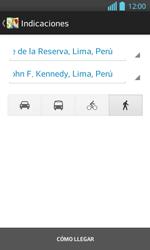 Uso de la navegación GPS - LG Optimus L 7 II - Passo 18