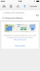 Uso de la navegación GPS - Apple iPhone 5c - Passo 17