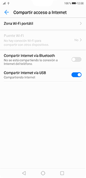 Comparte la conexión de datos con una PC - Huawei P20 Pro - Passo 8