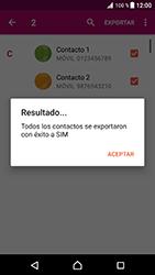 ¿Tu equipo puede copiar contactos a la SIM card? - Sony Xperia XZ Premium - Passo 12