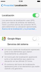 Uso de la navegación GPS - Apple iPhone 5s - Passo 8