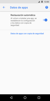 Realiza una copia de seguridad con tu cuenta - Motorola Moto E5 - Passo 11