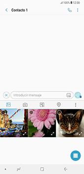 Envía fotos, videos y audio por mensaje de texto - Samsung A7 2018 - Passo 8