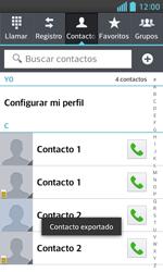 ¿Tu equipo puede copiar contactos a la SIM card? - LG Optimus L5 II - Passo 10
