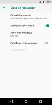 Desactivación límite de datos móviles - Motorola Moto G6 Play - Passo 8