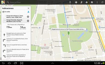Uso de la navegación GPS - Samsung Galaxy Note 10-1 - N8000 - Passo 17