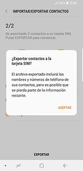 ¿Tu equipo puede copiar contactos a la SIM card? - Samsung Galaxy S9 - Passo 13