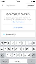 Uso de la navegación GPS - Apple iPhone 5c - Passo 19