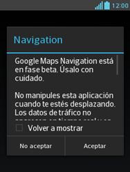 Uso de la navegación GPS - LG Optimus L3 II - Passo 17