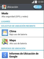 Uso de la navegación GPS - LG L20 - Passo 8