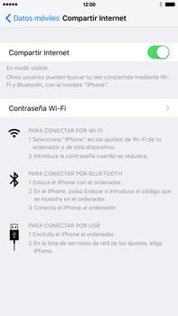 Configura el hotspot móvil - Apple iPhone 6 Plus - Passo 9