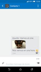 Envía fotos, videos y audio por mensaje de texto - HTC One M9 - Passo 17