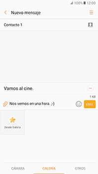 Envía fotos, videos y audio por mensaje de texto - Samsung Galaxy A7 2017 - A720 - Passo 12