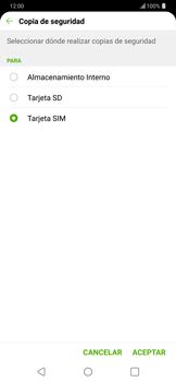 ¿Tu equipo puede copiar contactos a la SIM card? - LG G7 ThinQ - Passo 9