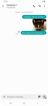 Envía fotos, videos y audio por mensaje de texto - Samsung Galaxy A80 - Passo 22