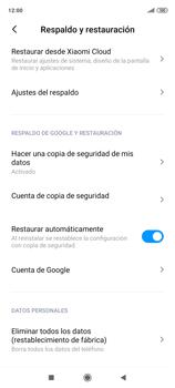 Realiza una copia de seguridad con tu cuenta - Xiaomi Redmi Note 9 Pro - Passo 9