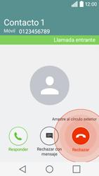Contesta, rechaza o silencia una llamada - LG C50 - Passo 4