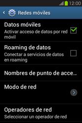 Desactiva tu conexión de datos - Samsung Galaxy Fame GT - S6810 - Passo 5