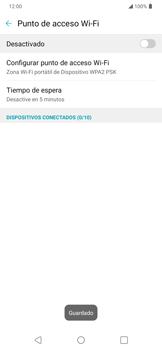 Configura el hotspot móvil - LG K40S - Passo 8