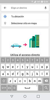 Uso de la navegación GPS - LG Q6 - Passo 14