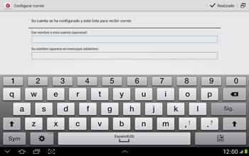Configura tu correo electrónico - Samsung Galaxy Note 10-1 - N8000 - Passo 19