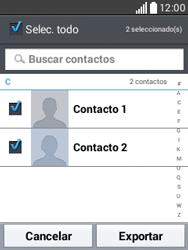 ¿Tu equipo puede copiar contactos a la SIM card? - LG L20 - Passo 8