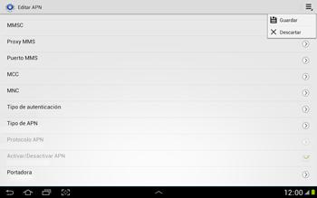 Configura el Internet - Samsung Galaxy Note 10-1 - N8000 - Passo 16