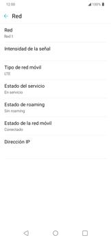 Activa o desactiva el roaming de datos - LG K50s - Passo 6